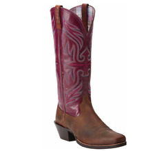 Ariat Womens Round Up Buckaroo Western Square Toe Boot 10014173 Size 5 1/2