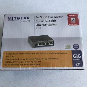 Netgear ProSafe Plus 5 Port Gigabit Ethernet Switch - GS105E