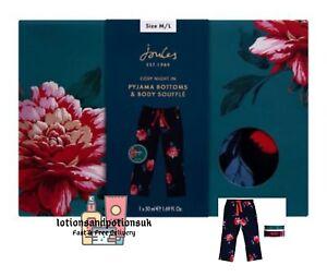 Joules NIGHT IN Pyjama Bottoms Medium / Large Ladies Christmas Gift Set 2021