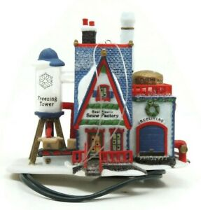 Department 56 Real Plastic Snow Factory Lighted Ornament North Pole Series