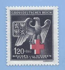 Nazi Germany Third Reich Nazi B&M Eagle Red Cross 120+880 stamp MNH WW2 ERA #5
