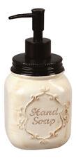 Ceramic Kitchen Bath Jar Hand Soap Lotion 7 Inch  Pump Dispenser
