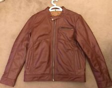 Brown leather jacket -Genuine Leather