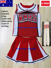 Kids Cheerleader Costume High School Musical Uniform Girls Glee Outfit Dress