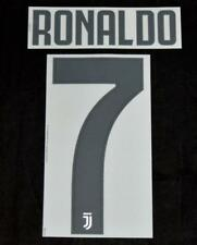 Juventus Ronaldo 7 Football Shirt Name/Number Set Home 2018/19