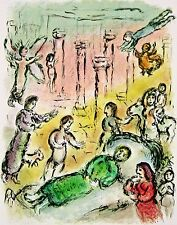 Ulysses' Bed (The Odyessy), 1989 Limited Edition Lithograph, Marc Chagall