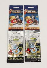 4 Angry Birds Dog Tag Fun Packs Sealed 2 Space 2 Star Wars Style