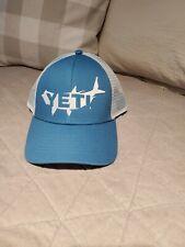Yeti Coolers Mesh Snapback Advertising Teal White Unisex Baseball Cap Hat