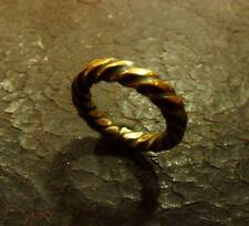 ANCIENT VIKING  BRONZE TWISTED RING (957) .