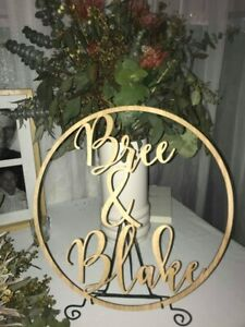 Small Personalised Wooden Ring Hoop Name Weddings Children decor birthdays