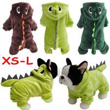 Winter Pet Dog Fleece Dinosaur Hoodies Coats Cat Puppy  Clothes Jumpsuit Pajamas