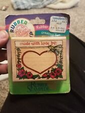 """Rubber Stampede """"Made with Love By"""" Stamp NEW in Packaging"""