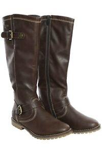 Arizona Stiefel Damen Schuhe Boots Stiefeletten Bikerstiefel Braun Größe 36