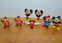 VINTAGE DISNEY PVC MINI FIGURE LOT MICKEY MOUSE MINNIE MOUSE CAKE TOPPERS 1984