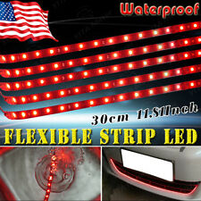 YITA- 4pcs Red 30CM/15 LED Car Motors Truck Flexible Strip Light Waterproof 12V