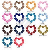 10pcs Satin Ribbon Rose Flower Craft Wedding Appliques Favors DIY OBRN0033 25mm