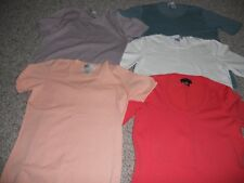 Lot of 5 Sutton Studio tops size small short sleeve