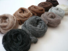 Heidifeathers® 'Menagerie Mix' 10 blended Natural Wool Slivers - Felting Wools