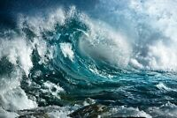 A1 | Stormy Sea Poster Art Print 60 x 90cm 180gsm Wave Ocean Surf Fun Gift #8311