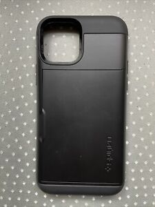 iPhone 12 Pro Max Case, Spigen Slim Armor CS Card Holder Cover - Black