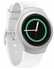 Samsung Gear S2 SM-R730T Smartwatch Stainless Steel Case White Band