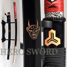 New Red Damascus Steel Blade Kill Bill Japanese Samurai Katana Sword Handmade