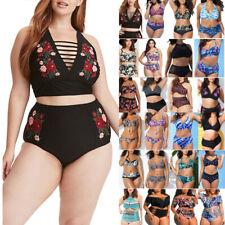 Plus Size Women Bikini Set Swimwear Push Up Padded Swimsuit Summer Beachwear