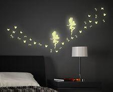 Leuchtsticker Leuchttattoo Wandsticker Feen Schmetterlinge Libellen Elfen