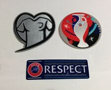 Euro 2016 France Qualifier Soccer Football Patch Badge respect Fair Play Set