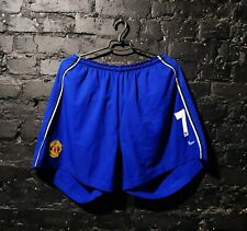 Beckham Manchester United third shorts 2002 - 2003 Nike blue mens size XXL