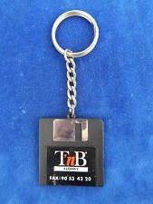 """PORTE-CLES / Key ring - T'nB - DISQUETTE / Floppy 3,5"""" - SYMPA / Nice - TOP !"""