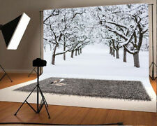 Winter Woods Snow Scene Background Photo Studio Props Photography Backdrops