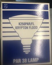 PHILIPS 374322 K250PAR/FL 120-130V 250W DIMMABLE KRYPTON PAR38 30° FLOOD LAMP