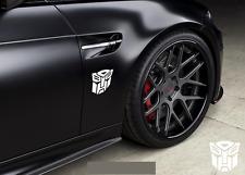 TRANSFORMERS AUTOBOT WEISS GLANZ 2x Aufkleber Sticker Emblem 100x100mm