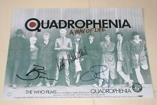"QUADROPHENIA CAST X3 PP SIGNED 12""X8"" POSTER MODS"