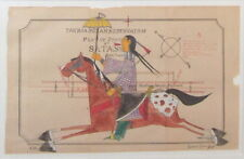 ORIGINAL CONTEMPORARY NATIVE AMERICAN MICHAEL HORSE LEDGER PAINTING SIGNED DATED