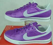 Womens 11.5 Nike Sweet Classic Textile Purple White Canvas Shoes $60 408182-502