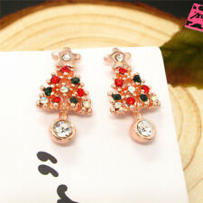 Stars Christmas Tree Earrings Gift New Betsey Johnson Colorful Crystal Cute