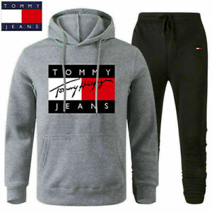 NEW Tommy1 Mens Sets Hoodie pants Casual Tracksuit Sportswear Gym Sweat Suit