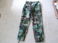 US  ARMY WOODLAND BDU HOT WEATHER PANTS SIZE SMALL- LONG