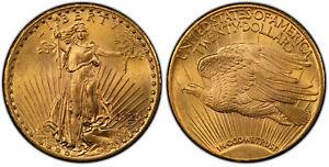 1925 AV $20, Double Eagle. PCGS MS65 Saint-Gaudens. Philadelphia IGWT KM 131