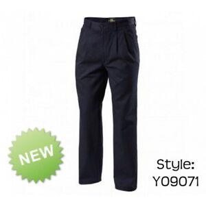 Mens Hard Yakka Foundations Wrinkle Resistant Trousers Pants Work Y09071