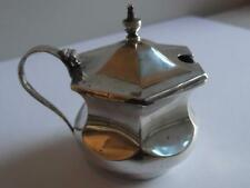 Solid Silver Mustard Pot BIRMINGHAM 1944 with Liner