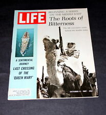 QUEEN MARY'S LAST CROSSING /MIDDLE EAST BITTERNESS  OCT 6 TH1967  LIFE MAGAZINE