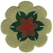 "2 1/2"" Peasant Olive Green Brown Suede flower patch"