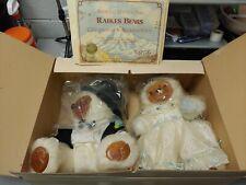 Rare Raikes Bears Allison & Gregory Bride Groom Wedding 1986 Tags Coa & Box