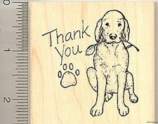 Thank you dog Rubber Stamp Wood Mounted H7201