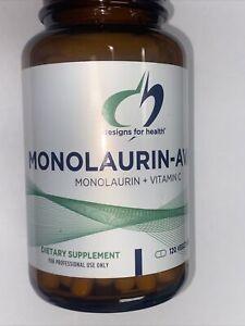 Designs for Health Monolaurin-Avail Monolaurin + Vitamin C - 120 Vegetarian Caps