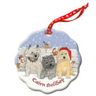 Cairn Terrier Holiday Porcelain Christmas Tree Ornament