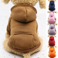 Pet Dog Hoodie Coat Jacket Puppy Cat Winter Warm Hooded Costume Apparel #YI